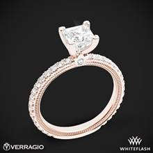 20k Rose Gold Verragio Tradition TR150P4 Diamond 4 Prong Engagement Ring | Whiteflash