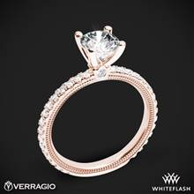 20k Rose Gold Verragio Tradition TR150R4 Diamond 4 Prong Engagement Ring | Whiteflash