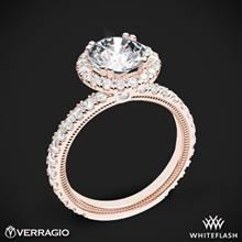 20k Rose Gold Verragio Tradition TR180HR Diamond Round Halo Engagement Ring | Whiteflash