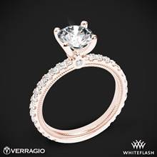 20k Rose Gold Verragio Tradition TR180R4 Diamond 4 Prong Engagement Ring | Whiteflash