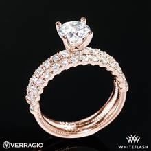 20k Rose Gold Verragio V-950 Renaissance Diamond Wedding Set | Whiteflash