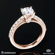 20k Rose Gold Verragio V-951-R2.0 Renaissance Diamond Engagement Ring | Whiteflash
