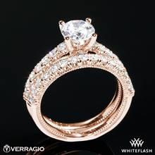 20k Rose Gold Verragio V-951 Renaissance Diamond Wedding Set | Whiteflash