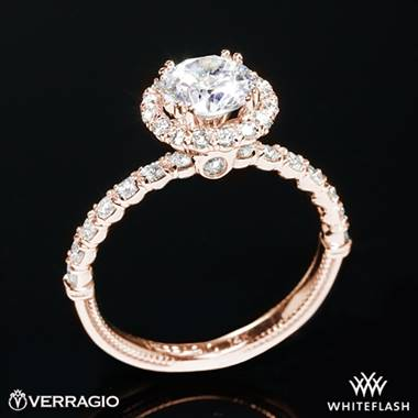 20k Rose Gold Verragio V-954-R1.8 Renaissance Diamond Halo Engagement Ring