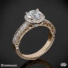 20k Rose Gold Verragio Venetian Centro AFN-5002R-1 Diamond Engagement Ring | Whiteflash