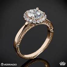 20k Rose Gold Verragio Venetian Centro AFN-5019R-1 Halo Engagement Ring   Whiteflash