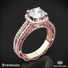 20k Rose Gold Verragio Venetian Lace AFN-5007CU-4 Diamond Engagement Ring | Whiteflash
