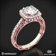 20k Rose Gold Verragio Venetian Lace AFN-5053CU-4 Halo Diamond Engagement Ring | Whiteflash