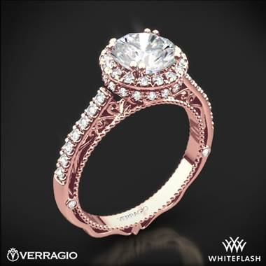 20k Rose Gold Verragio Venetian Lace AFN-5053R-4 Halo Diamond Engagement Ring