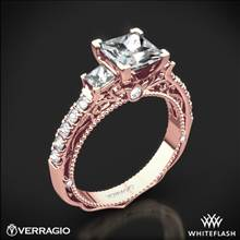 20k Rose Gold Verragio Venetian Lace AFN-5058P-4 Three Stone Engagement Ring for Princess | Whiteflash