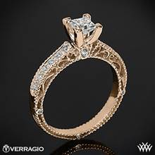 20k Rose Gold Verragio Venetian Lido AFN-5001P-2 Diamond Engagement Ring for Princess Cut Diamonds | Whiteflash