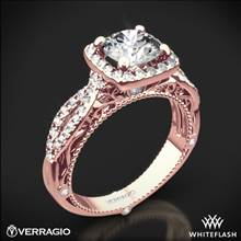 20k Rose Gold Verragio Venetian Lido AFN-5005CU-2 Cushion Halo Diamond Engagement Ring | Whiteflash
