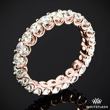 2.10ctw 18k Rose Gold Annette's U-Prong Eternity Diamond Wedding Ring (Size 6)