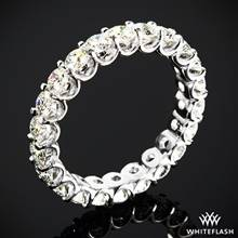 2.10ctw 18k White Gold Annette's U-Prong Eternity Diamond Wedding Ring (Size 6.5) | Whiteflash