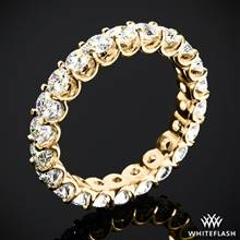 2.10ctw 18k Yellow Gold Annette's U-Prong Eternity Diamond Wedding Ring (Size 6.5) | Whiteflash