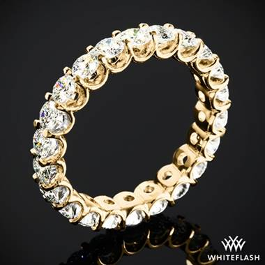 2.10ctw 18k Yellow Gold Annette's U-Prong Eternity Diamond Wedding Ring (Size 6.5)