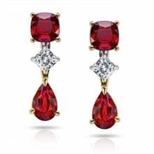 2.41ct Ruby Pear shape, Cushion | I.D.Jewelry