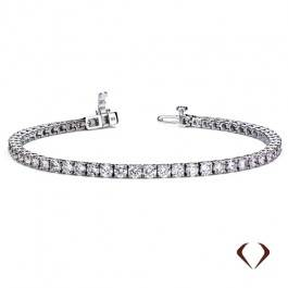 2.95 ct Diamond Bracelet Set In 14K White Gold 10004884