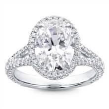 3 Row Pave Engagement Ring Setting | Adiamor