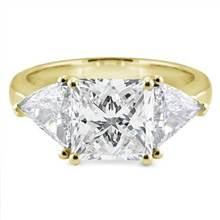 3 Stone Engagement Ring Setting 1cttw Trilliants   Adiamor