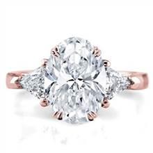 3 Stone Trilliant Engagement Ring Setting | Adiamor