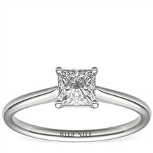 3/4 Carat Astor Princess-Cut Petite Solitaire in Platinum (H/SI2) Ready-to-Ship | Blue Nile