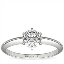 3/4 Carat Classic Six-Prong Solitaire Engagement Ring in 14k White Gold (I/SI2) Ready-to-Ship | Blue Nile