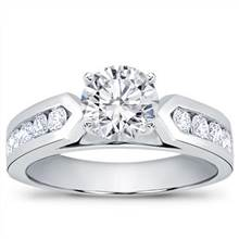 3/4 ct. tw. Channel-Set Engagement Setting (0.70 CTTW) | Adiamor