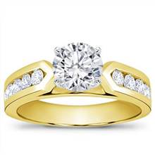 3/4 ct. tw. Channel-Set Engagement Setting | Adiamor