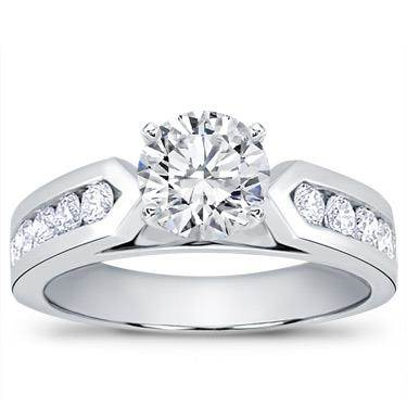 3/4 ct. tw. Channel-Set Engagement Setting