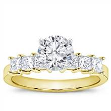 3/4 ct. tw. Princess-Cut Engagement Setting | Adiamor