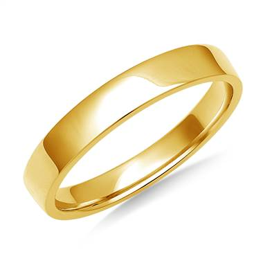 3mm Comfort Fit Wedding Band in 18K Yellow Gold