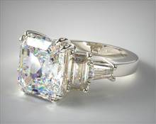 5-Stone Tapered Baguette .54ctw Engagement Ring in 2.35mm Platinum (Setting Price)   James Allen
