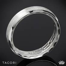 5mm 18k White Gold Tacori 107-5B Sculpted Crescent 3 Sided Brushed Eternity Wedding Ring | Whiteflash