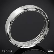 5mm 18k White Gold Tacori 107-5B Sculpted Crescent 3 Sided Brushed Eternity Wedding Ring | Whiteflash
