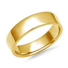 5mm Men's 18K Yellow Gold Flat Comfort Fit Wedding Band. | B2C Jewels