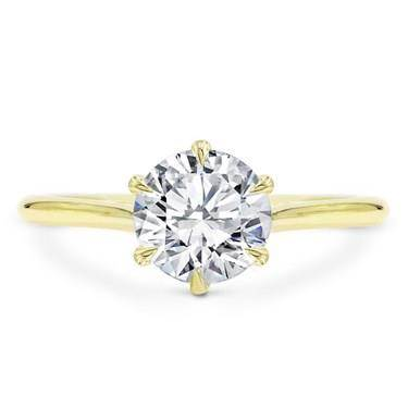 6 Prong Custom Fit Basket Solitaire