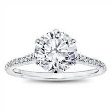 6 Prong Diamond Band and Basket Engagement Setting | Adiamor