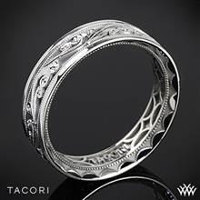 6mm 18k White Gold Tacori 104-6 Sculpted Crescent Eternity Wedding Ring | Whiteflash