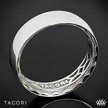 6mm 18k White Gold Tacori 111-6 Sculpted Crescent Rounded Eternity Wedding Ring | Whiteflash