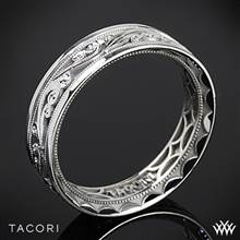 6mm Platinum Tacori 104-6 Sculpted Crescent Eternity Wedding Ring | Whiteflash