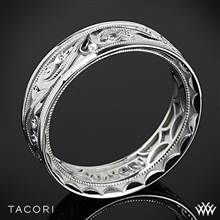 7mm 18k White Gold Tacori 104-7 Sculpted Crescent Eternity Wedding Ring | Whiteflash