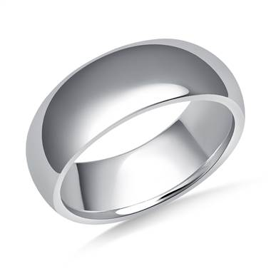 8mm Men's Palladium High Polish Comfort Fit Wedding Band