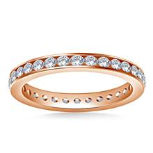 Ageless Channel Set Round Diamond Eternity Ring in 14K Rose Gold (0.81 - 0.96 cttw.) | B2C Jewels