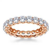 Ageless Prong Set Round Diamond Eternity Ring in 18K Rose Gold (2.70 - 3.15 cttw.) | B2C Jewels