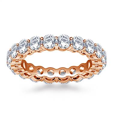 Ageless Prong Set Round Diamond Eternity Ring in 18K Rose Gold (2.70 - 3.15 cttw.)