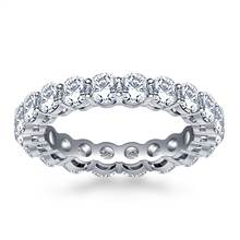 Ageless Prong Set Round Diamond Eternity Ring in 18K White Gold (2.70 - 3.15 cttw.) | B2C Jewels