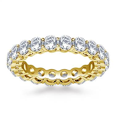 Ageless Prong Set Round Diamond Eternity Ring in 18K Yellow Gold (2.70 - 3.15 cttw.)