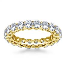 Ageless Prong Set Round Diamond Eternity Ring in 18K Yellow Gold (2.70 - 3.15 cttw.) | B2C Jewels