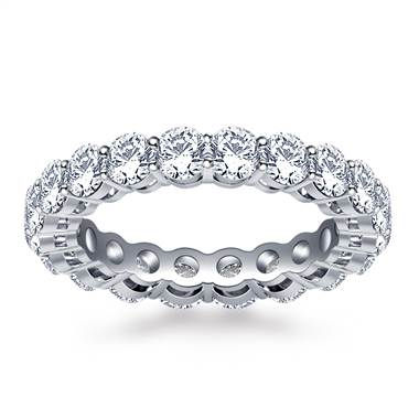 Ageless Prong Set Round Diamond Eternity Ring in Platinum (2.70 - 3.15 cttw.)